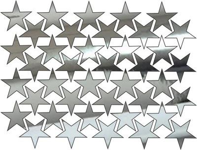 наклейки зеркало на стену звезды Шестьдесят четыре штук decor