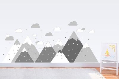 Samolepky na stenu Škandinávske hory 300 x 100 cm