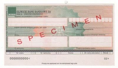 чек печатается Гливицкий Банк Коммерческий GB1