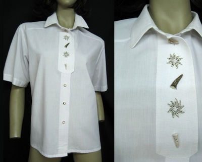 cebfe8bb6e3256 Siebenstein* piękna bluzka len folk vintage XXL - 6330264329 ...