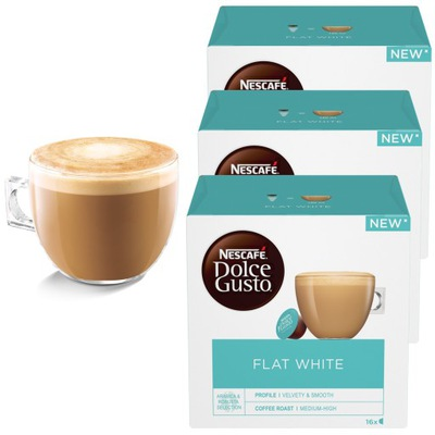 Dolce Gusto Flat White кофе 48 капсулы 3x16 штук