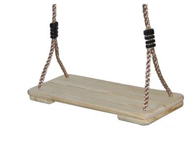 Hojdačka pre deti - Drevené ECO sedadlo na lanách na ihrisku