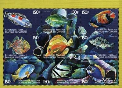 Komory. Mi 1521-29 ** - ryby