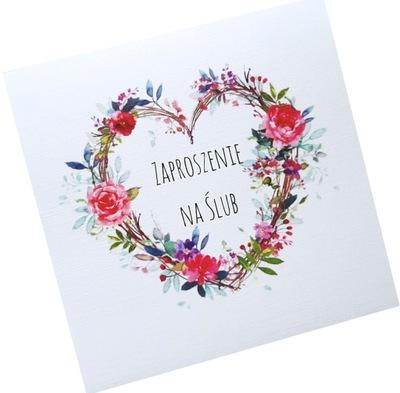 Gotowe Zaproszenia na ślub, Cywilny, KOPERTA, EVe