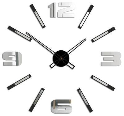часы instagram современный naklejany DIY 3D ЗЕРКАЛО L