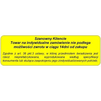 Tablica Tabliczka Informacyjna Brak Zwrotu Towaru 7028554681 Oficjalne Archiwum Allegro