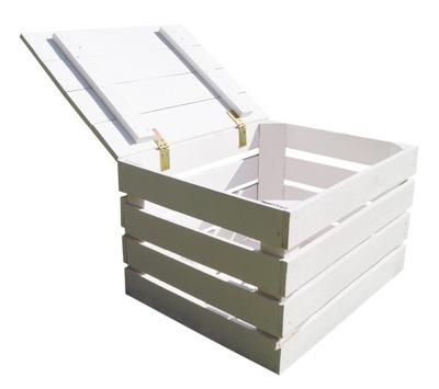 коробка деревянная белая СУНДУК С КРЫШКОЙ НОВАЯ