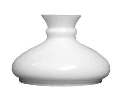Плафон 23см для керосиновых ламп отверстие вниз 230мм Белый