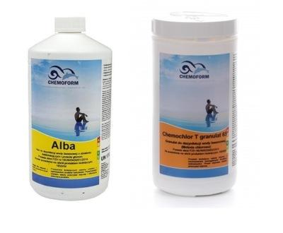 Bazénový čistič - CHEMOCHLÓR CHLOR SZK 6w1 SZOKOWE + GLONE ANTILLON