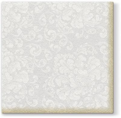САЛФЕТКИ Flizelinowe свадьба надпись Серебряные 50 штук