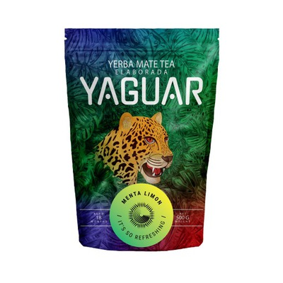 Yerba Mate Yaguar Мента Лимон с Мятой Ноль ,5 кг 500 г