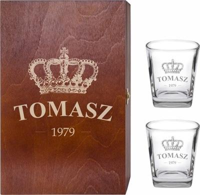 Стакана Виски x2 коробка алкоголь с гравировкой