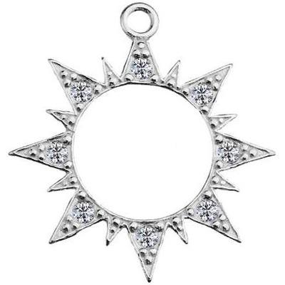 Звезда кулон серебряный солнце серебро звездочка