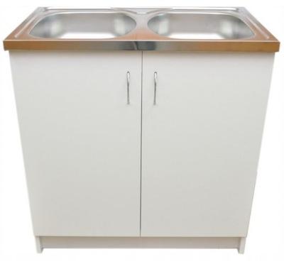 Szafka kuchenna + zlew 80x50 biała