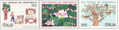 Италия 1982 Штампы Мне 1818-20 ** дети дерево