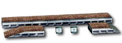 HEKI Cityline Peron Dworca Model Kartonowy H0