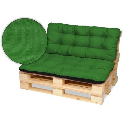 Подушки на мебель из поддонов скамейка 120х80+120x50 зеленый