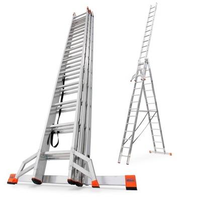 Лестница алюминиевая 3x14 Краузе PROFESSIONAL+TRIGON