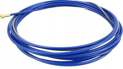 Wkład stalowy prowadnik niebieski spiralny 4m MIG