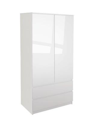 шкаф МОНЯ 2D 2  ??  Белый блеск Спальня
