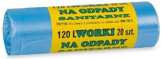 Worki śmieciowe HDPE 120l 20 szt