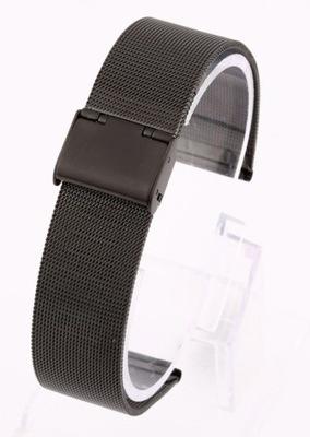 Bransoleta do zegarka typu Mesh 20mm czarna