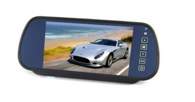 Monitor LCD 7'' cal w lusterku z obsł. 2 kamer