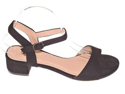 Sandały Zamszowe FH39026 Black r.38