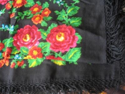 российская платок 145x145 винтаж чистая шерсть готова к отправке