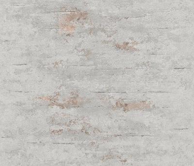 ОБОИ Стены флизелиновой основе Серый бетон Медь