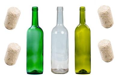 10шт бутылка вино Оливковый зеленый БЕСЦВЕТНОЙ+пробка