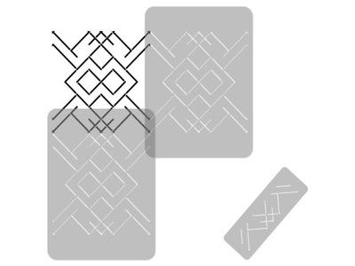 шаблон малярный повторяется геометрический / LINES2
