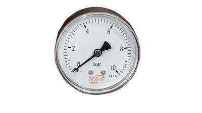Tlakomer 10 bar závit 1/4 GOSHE zadný tlakomer