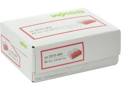 Rýchly konektor pre kábel WAGO pôvodné 4x2,5 100ks
