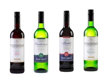 4 типа вино безалкогольные напитки (пол)Сухое Ноль %