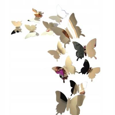зеркало Бабочка бабочки наклейки 3D на стену ???