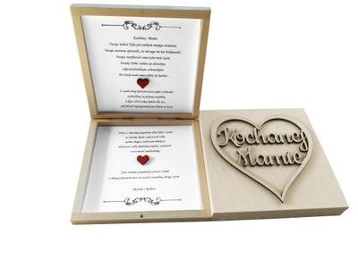 Drewniane Zaproszenie Ślubne dla Mamy Taty Ślub