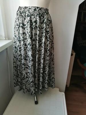 Długa spódnica damska szeroka paski 40 7766001426