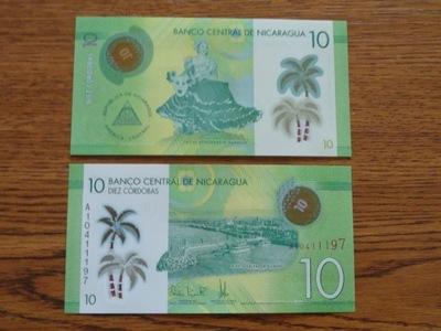 433.NICARAGUA 10 CORDOBAS UNC ПОЛИМЕР