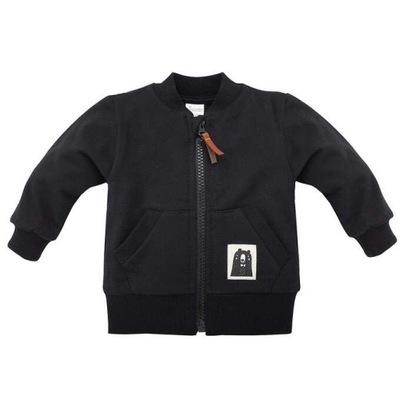 Czarna rozpinana bluza dziecięca PREMIUM 158 a412