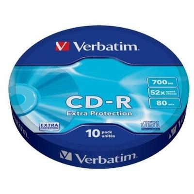 Płyty CD-R Verbatim CD-R 52x 700MB 10P SP Extra