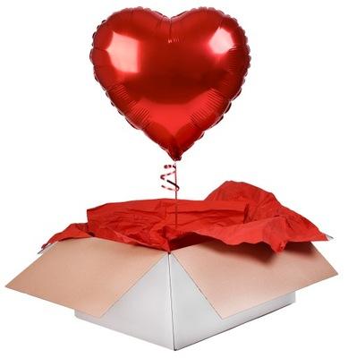 Шар красное сердце с ГЕЛИЕМ день святого instagram подарок
