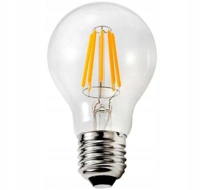 Лампа LED E27 Filament 6W Edison Нарядная Тепла