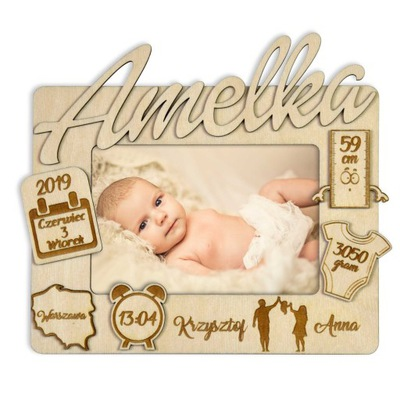 Рамка  3D Ребенка день рождения подарок 10х15