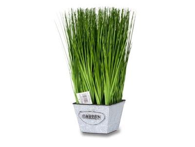 TRAWA DEKORACYJNA W DONICZCE GRASS 38 CM I GSMP
