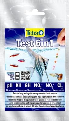 Тетра Test 6in1 ПОЛОСКИ ТЕСТЫ Воды аквариум 10шт