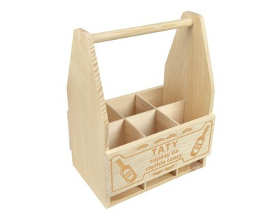 деревянная коробка ПЕРЕНОСКУ НА пиво гравер подарок