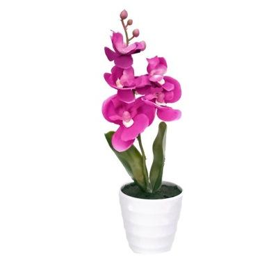 Орхидея искусственный в горшке ,орхидея цветок
