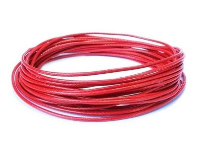 W20 ~ Ноль ,5 шнурок нейлоновый  5м красный