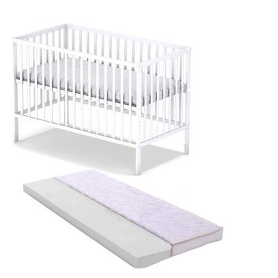 Кроватка СТАС белое + матрас + махровые